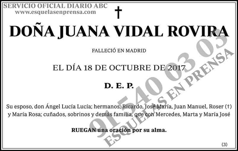 Juana Vidal Rovira